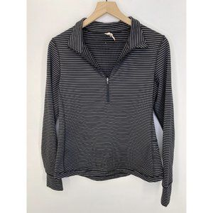 Lucy Long Sleeve Striped Sweatshirt Size Medium